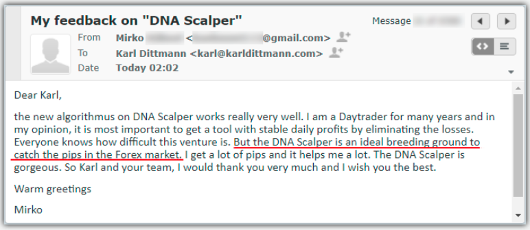 DNA Scalper Testimonial
