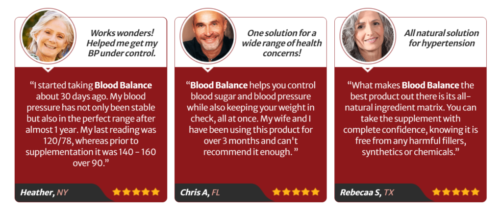 Blood Balance Advanced Formula Testimonial